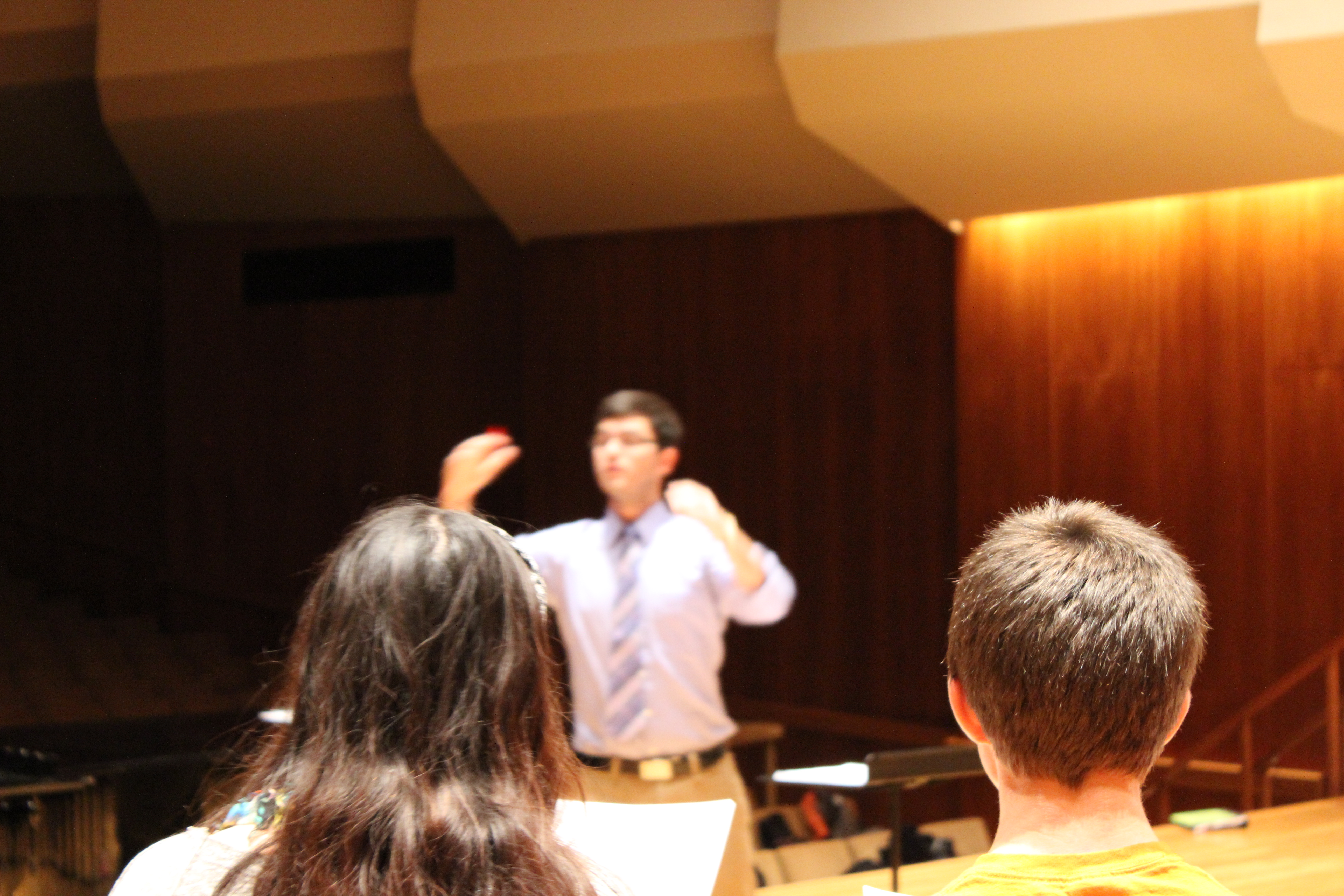 conducting student in Great Hall